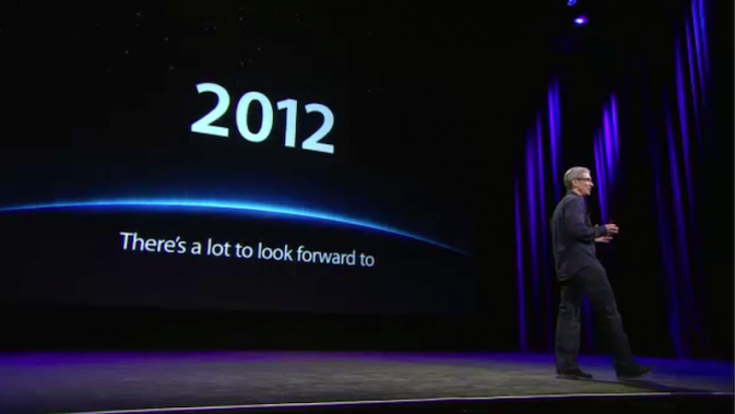 Tim Cook at the third-generation iPad event