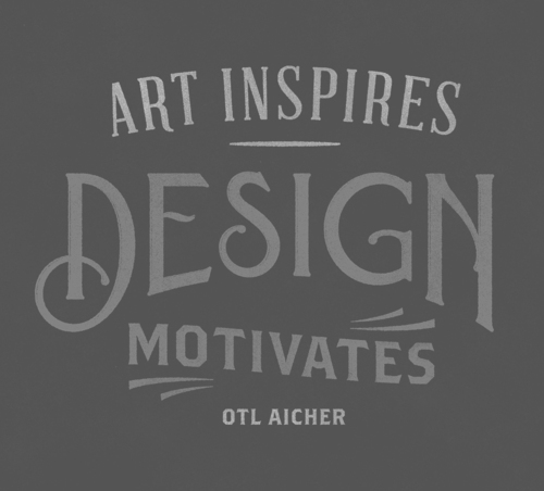 Art Inspires Design Motivates Otl Aicher