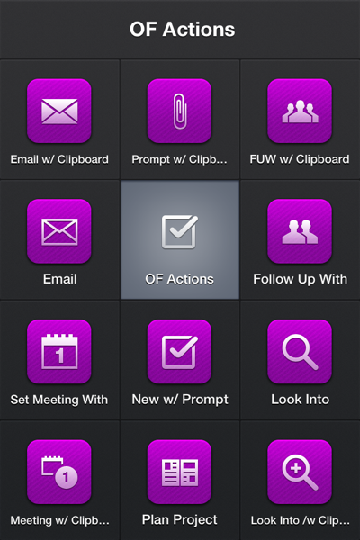 Creating tasks in OmniFocus with Launch Center Pro