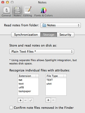 NvALT Dropbox Folder Settings